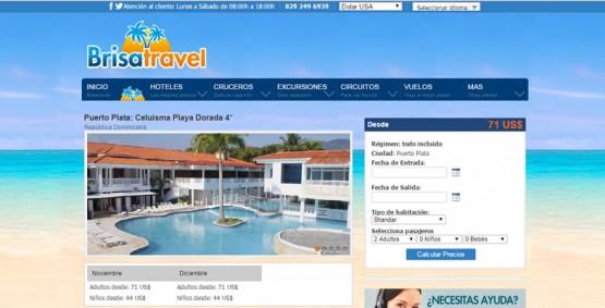 Diseño y desarrollo página web Brisa Travel