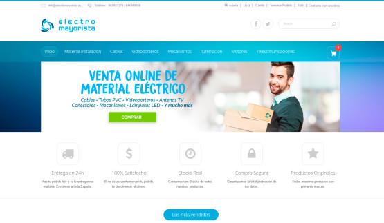 Tienda online Electromayorista homepage