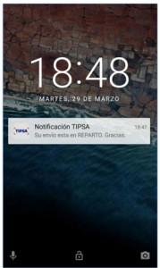 App Tipsa notificacion