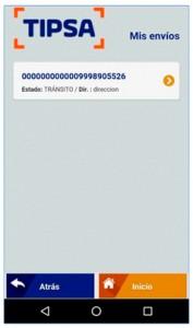 Tipsa App seguimiento envios