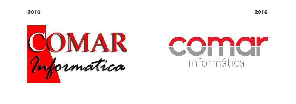 Logotipo antes y después