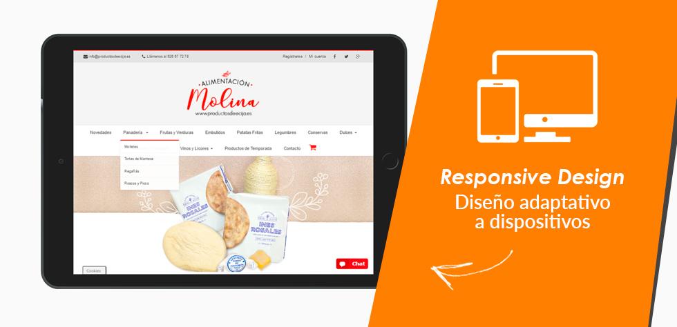 Diseño responsive www.productosdeecija.es