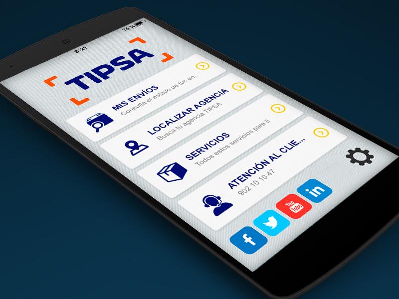 Ejemplo de aplicación Móvil Tipsa