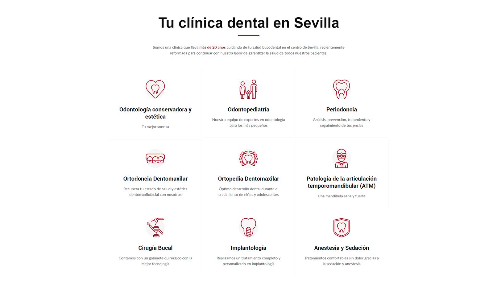 Clinica Centro Sevilla Servicios